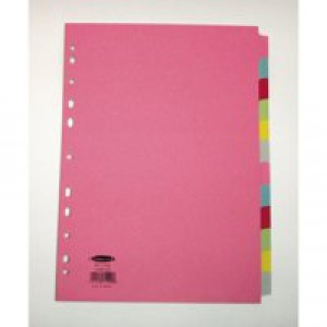 Concord 12 Part Subject Divider A4 Coloured J14 Code 71499