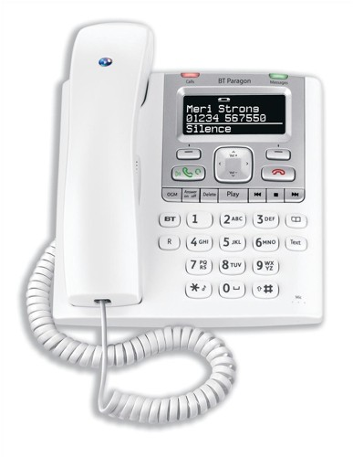 BT Paragon 550 Telephone Corded Answer Machine 100 Memories SMS Caller Inverse Display Ref 32115