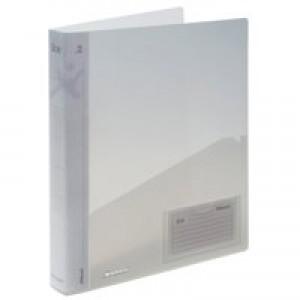 Rexel Ice Ring Binder Polypropylene Standard 25mm A4 Translucent Clear Ref 2102045 [Pack 10]