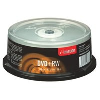 Imation DVD+RW Rewritable Disk on Spindle 4x Speed 120min 4.7GB Ref i16867 [Pack 25]