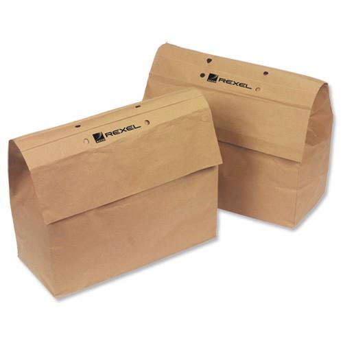 Rexel Mercury Shredder Bags Paper W370xD170xH280mm [for RSS2030 RSX1630 RSM1130] Ref 2102063 [Pack 20]