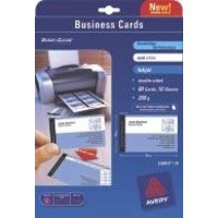 Image for Avery Quick And Clean Matt Inkjet Business Card 85x54mm White Pack of 10 Sheets C32015-10