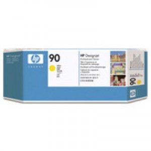 Hewlett Packard No90 Print Head And Cleaner Yellow C5057A