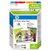 HP No.363 Photo Value Pack 6x Colour Cartridges 10x15cm Paper 150 Sheets Code Q7966EE
