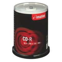 Imation CD-R Recordable Disk Write-once on Spindle 52x Speed 80Min 700MB Ref i18648 [Pack 100]