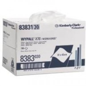 Wypall X70 Brag Box Cleaning Wipers 150 Cloths Size 310x420mm Code 8383