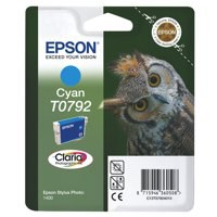 Epson T0792 Inkjet Cartridge Claria Owl 51g Page Life 1425-1530pp Cyan Ref C13T079240A0