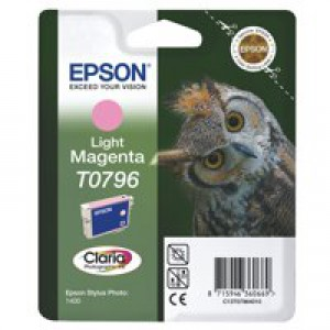 Epson T0796 Inkjet Cartridge Claria Owl 51g Page Life 930-1110pp Light Magenta Ref C13T079640A0