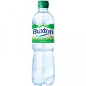 Buxton Natural Mineral Water Bottle Plastic 500ml Sparkling Ref A01520 [Pack 24]
