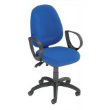 Trexus Plus High Back Chair Asynchronous 460x450x480-590mm Backrest H520mm Blue
