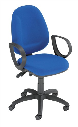 Trexus Plus High Back Chair Asynchronous Seat W460xD450xH460-590mm Back H510mm Blue