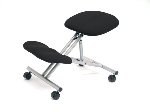 Trexus Kneeling Office Chair Steel Framed on Castors Gas Lift Seat H480-620mm Charcoal