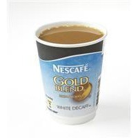Nescafe & Go Gold Blend Decaff White Coffee Foil-Sealed Cup for Drinks Machine Pack 8 Code A02783