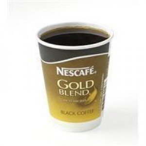 Nescafe & Go Gold Blend Black Coffee Foil-sealed Cup for Drinks Machine Ref 12033810 [Pack 8]