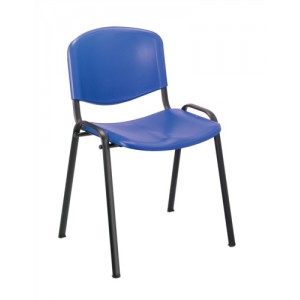 Trexus Stacking Chair Polypropene with Seat 480x450x460mm Blue