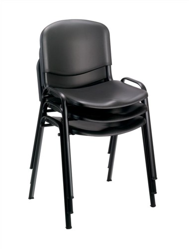Trexus Stacking Chair Polypropene with Seat W460xD390xH430mm Black