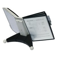 Durable Sherpa Desk Display Unit Complete 10 Index Tabs with 5 Black and 5 Grey Panels Ref 5632/22