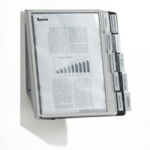 Durable Sherpa Display Wall Unit Complete 10 Index Tabs With 5 Black and 5 Grey Panels Code 5631/22