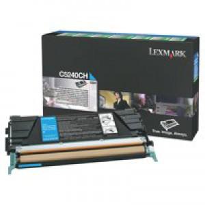 Lexmark Laser Toner Cartridge Return Program High Yield Page Life 5000pp Cyan Ref C5240CH