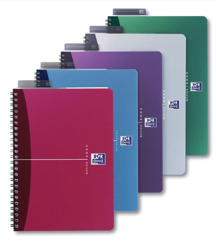 Oxford Office Notebook Wirebound Soft Cover A4 Assorted Ref 100103461 [Pack 5]