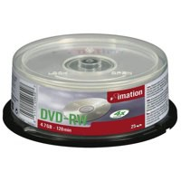 Imation DVD-RW Rewritable Disk on Spindle 4x Speed 120min 4.7GB Ref i21063 [Pack 25]