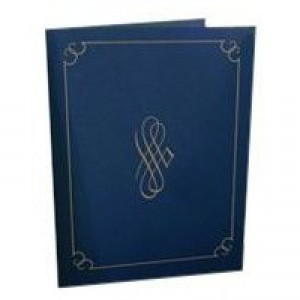 Certificate Covers Linen Finish Heavyweight Card Stock 290gsm Blue Pack 5