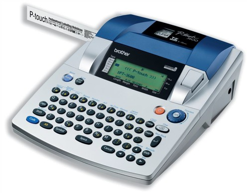 Brother P-Touch 3600 Labelmaker Desktop 10 Fonts 24 Sizes 10240Ch for Labels 6/9/12/18/24/36mm Ref PT3600