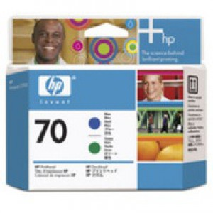 Hewlett Packard No70 Print Head Blue Green C9408A