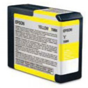 Epson T5804 Inkjet Cartridge Capacity 80ml Yellow Ref C13T580400