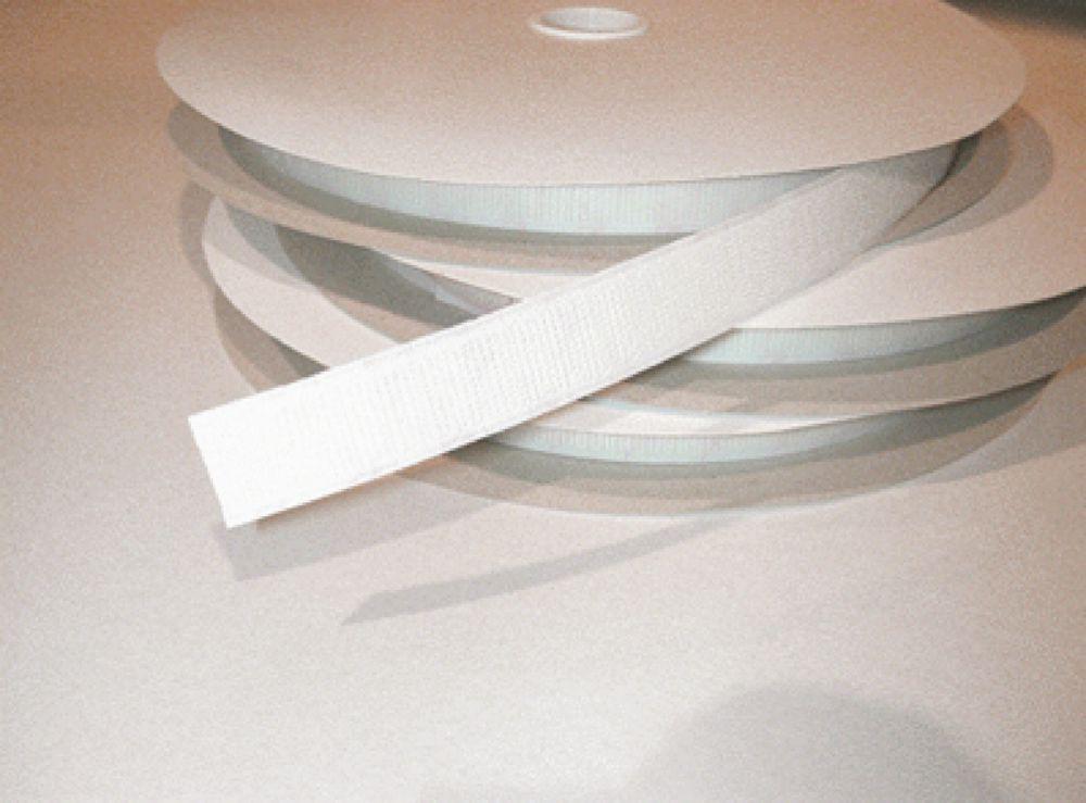 Hook & Loop System White S/A Tape 25mm Hook Pk1