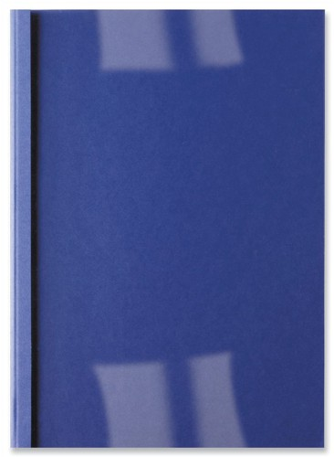 GBC Thermal Binding Covers 3mm Front PVC Clear Back Leathergrain A4 Royal Blue Ref IB451010 [Pack 100]