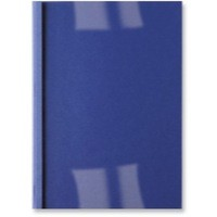GBC Thermal Binding Covers 4mm Front PVC Clear Back Leathergrain A4 Royal Blue Ref IB451027 [Pack 100]