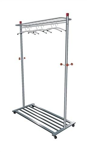 Coat and Garment Rack Mobile Lockable Castors Capacity 40-50 Hangers