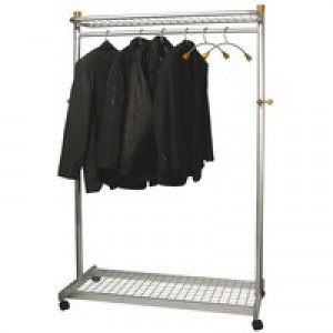 Alba Elegant Metal/Wood Garment Rack PMLUX