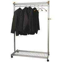 Alba Elegant Metal/Wood Garment Rack PMLUX