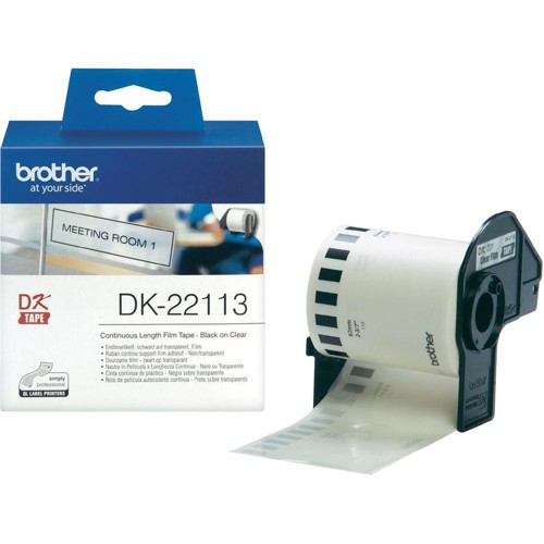 Brother Label Continuous Film 62mmx15.24m Clear Ref DK22113