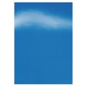 GBC Binding Covers Card Plain 250gsm A4 Gloss Blue Ref CE020020 [Pack 50x2]