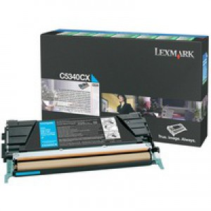 Lexmark C524/C534 Return Programme Toner Cartridge Cyan C5340CX