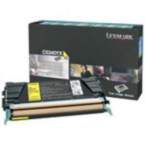 Lexmark C524/C534 Return Programme Toner Cartridge Yellow C5340YX