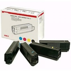 OKI Laser Toner Cartridges Page Life 15000pp Black/Cyan/Magenta/Yellow Ref 43112702 [Pack 4]