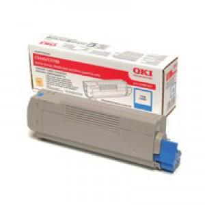 Oki Laser Toner Cartridge Cyan Code 43381907