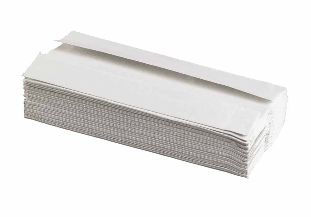 C Fold Hand Towels White 1ply 100% Recycled Pack 2880
