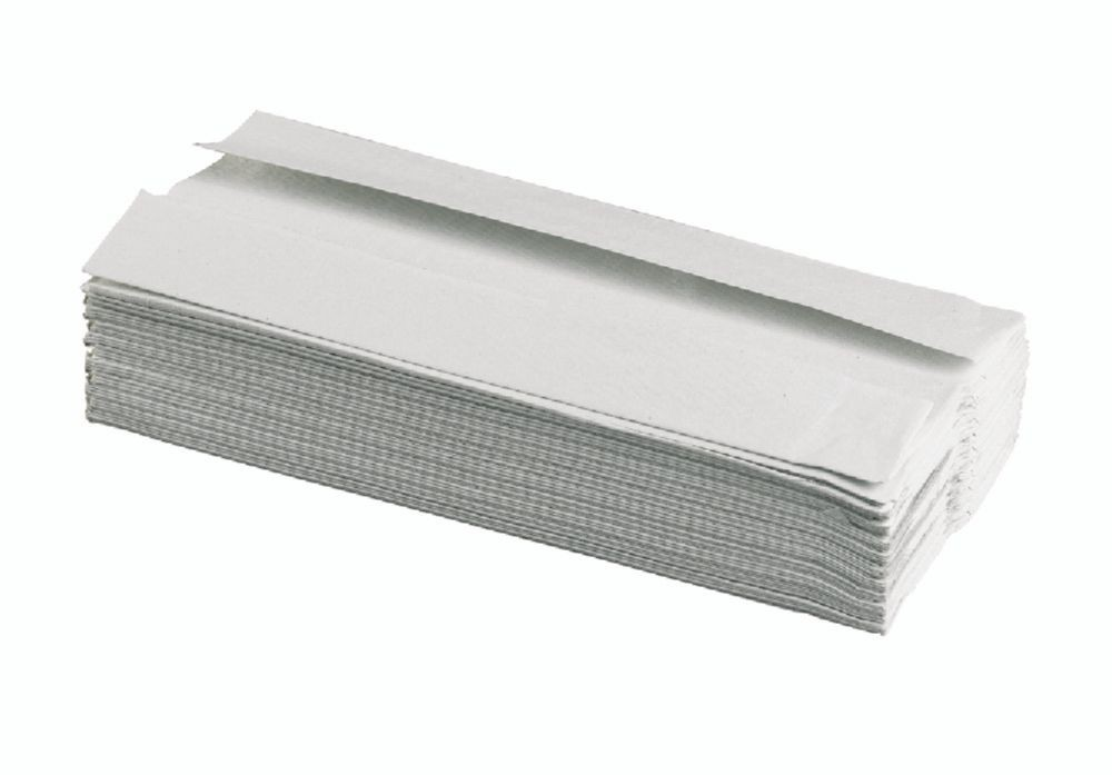 C Fold Hand Towels White 2ply 100% Recycled Pack 2400