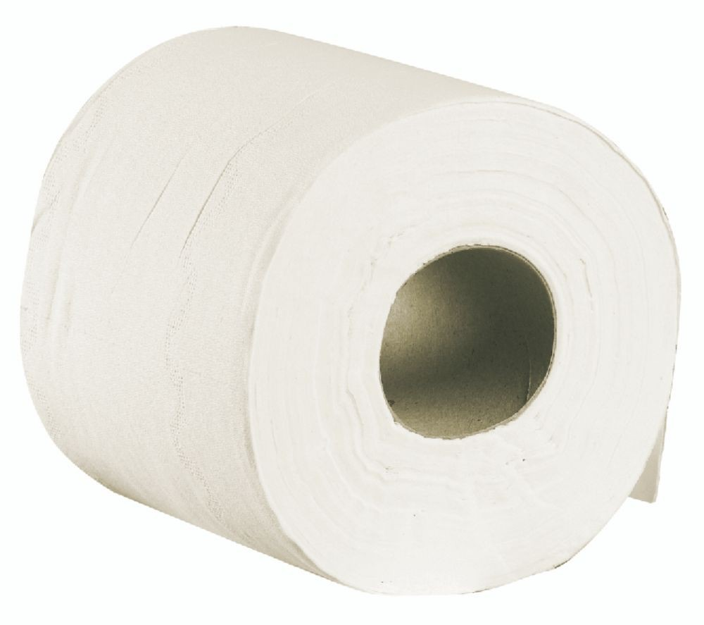 Supagreen Luxury White Toilet Roll 2ply 105x110 2x15Gm2 Packed 10 x 4 rolls per case