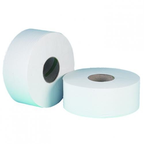 Jumbo Toilet Roll 2ply White 77mm Core 100% Recycled 300m