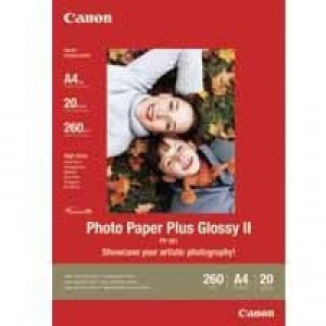 Canon Photo Paper Plus Glossy PP-201 A4 Pack of 20 Sheets