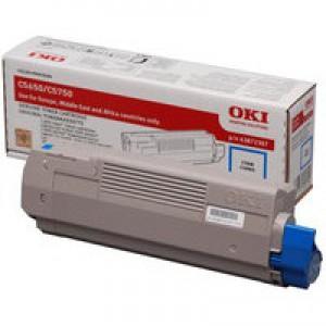 Oki C5650 Cyan Toner Cartridge Code 43872307