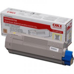 OKI Laser Toner Cartridge Page Life 2000pp Yellow Ref 43872305