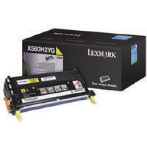 Lexmark X560 High Yield Toner Cartridge Yellow X560H2YG