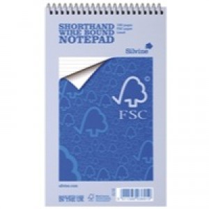 Silvine Notebook Spiral Bound FSC Paper Feint Ruled 160 Pages 5x8 inch Ref FSC160 [Pack 10]